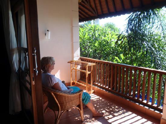 Liberty Dive Resort : balkon uitzicht op zee
