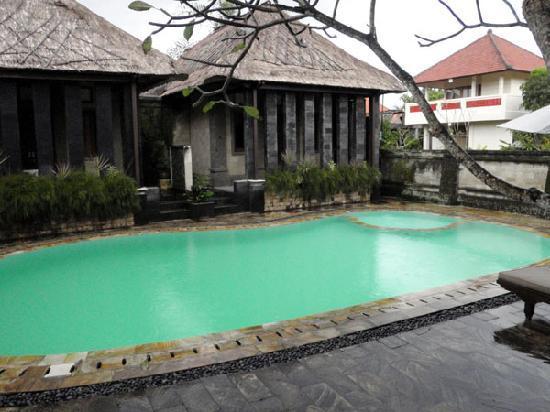 Kakiang Bungalows: プールはとても小さく平屋の2棟はそのままプールに入れます