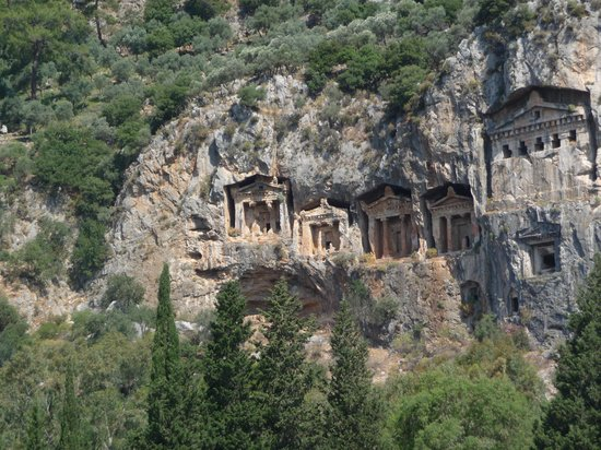 Dalyan, Turki: lycian tombs