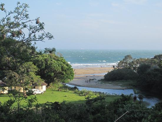 Port St Johns, South Africa: Blick von der Rezeption auf Secon Beach