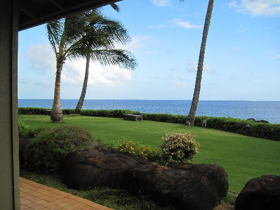 Whalers Cove Oceanfront Resort: The view from our lanai.