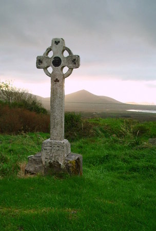 Dingle, İrlanda: Celtic Cross at Kilmalkedar