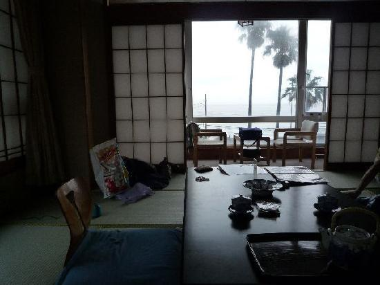 Higashiizu-cho, Japón: 部屋の窓からの景色(ホテル脇を流れる川)
