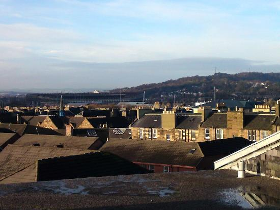 Edinburgh at Home : Looking over to Corstorphine Hill (Zoo) and Murrayfield from the roof terrace