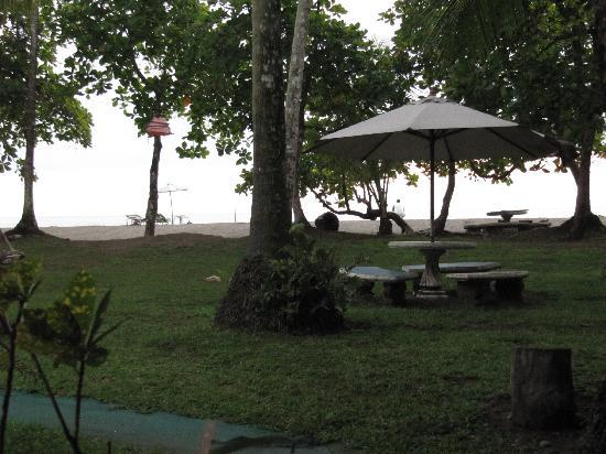 Bahari Beach Bungalows: view from our tent