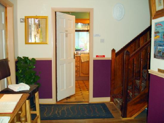 The Hideout Hostel: Hideout entry hall and door leading to the large kitchen