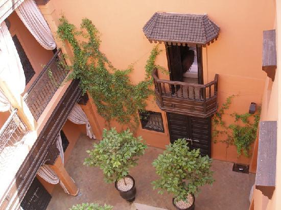 Riad Hermes: Riad Hermès vue d'en haut sur le patio