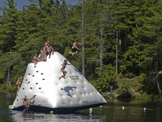 Purity Spring Resort: Can you conquer the giant iceberg on Purity Lake?
