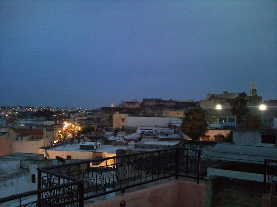 Riad Menthe et Citron: vue nocturne du riad