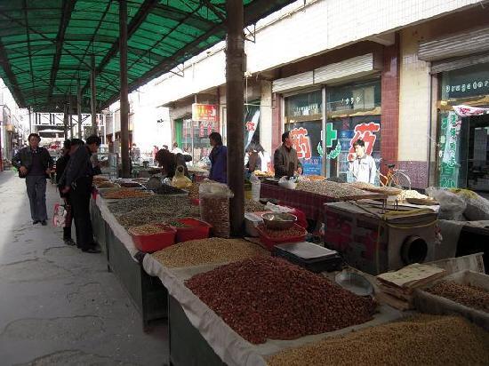 Shazhou Market: 豊富なナッツは少しずつ味見をして何種類か選びました。