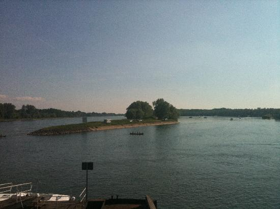 Au Bord du Rhin : View from restaurant of Rhine
