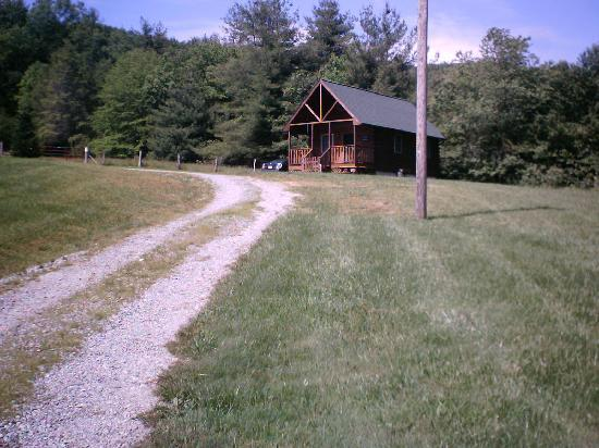 Approaching the cabin from the road picture of cabins on for Laurel springs