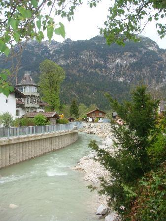 Hotel Edelweiss: we loved hearing the river in the evenings