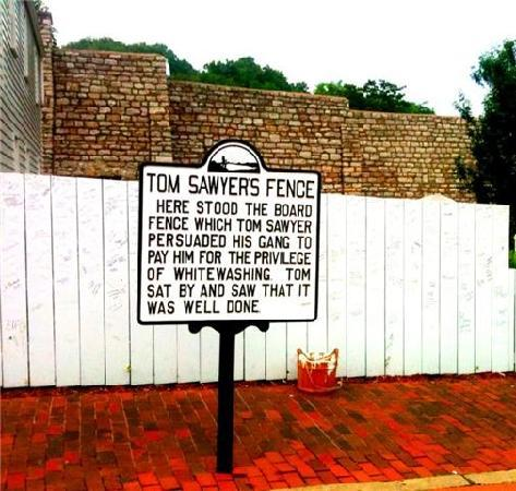 Hannibal, MO: Tom Sawyer's House(sign)