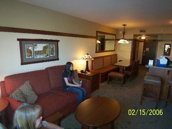Dvc villas master bedroom flat screen tv and view of - Disney grand californian 2 bedroom suite ...