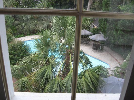 Linwood Bed & Breakfast : View of pool from sitting room window