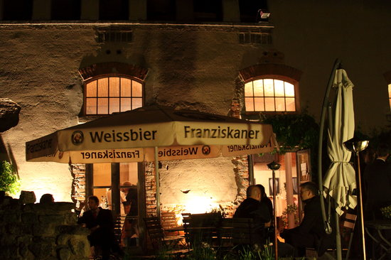 Lucklum, Germany: in einer warmen Nacht auf der Terasse