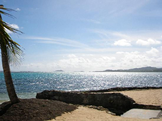 Smuggler's Cove: View of the beach & Christiansted Harbour
