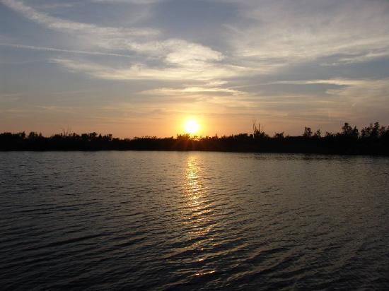 Cape Coral, Flórida: Traumhafter Sonnenuntergang von der Terrasse von Villa Amara aus gesehen