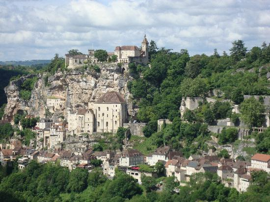 view from Rocamadour L'Hospitalet