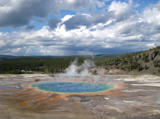 Yellowstone nationalpark, WY: Grand Prismatic Spring