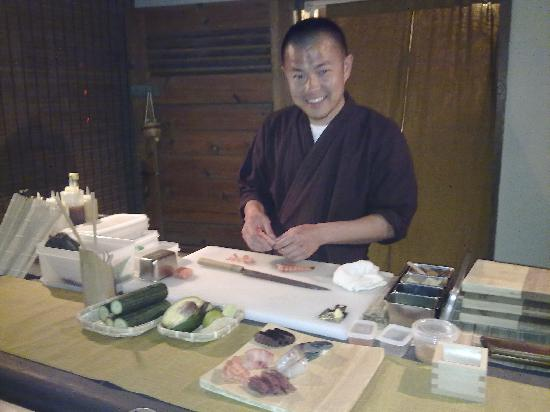 Ginger Sushi Lounge : look at this big smile from the great chef keita abe