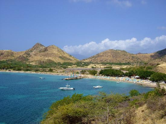 Turtle Beach, St. Kitts: View from the hill