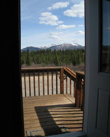 Alaskan Spruce Cabins: The view out the front door - could it be better?