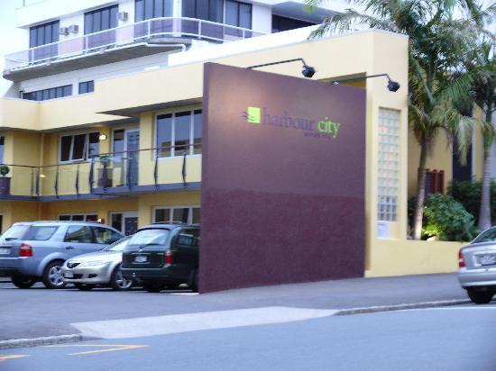 Zufahrt Harbour City Motor Inn