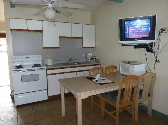 Bellows Air Force Station: kitchen view (renovated cabin, May 2010)