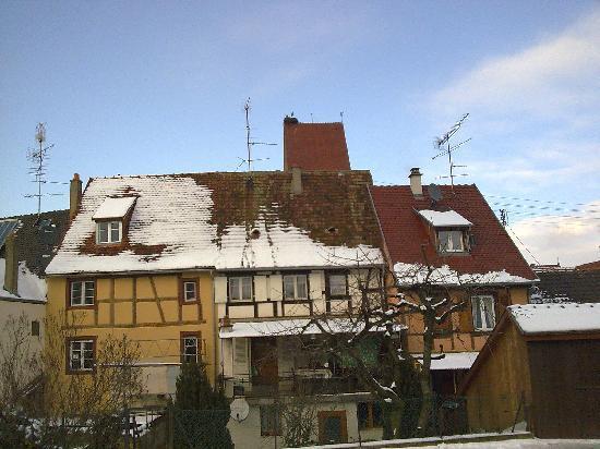 La Cloche : Obernai im Schnee