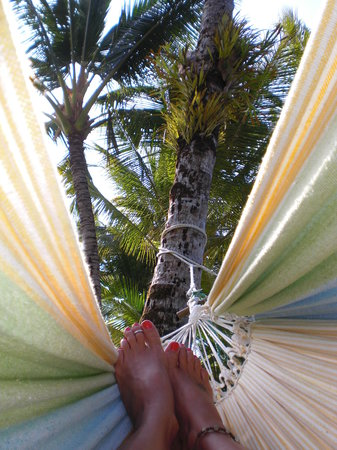 Mission Beach, Australia: relaxing in the hammock