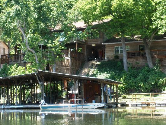 Gene's Trout Fishing Resort: View from the river