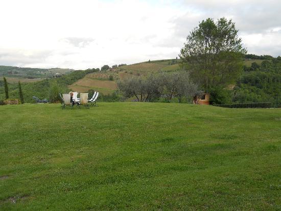 Villa Rignana: Their spacious lawn