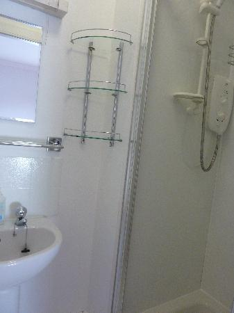 Mardon Guest House: Toilet is on opposite side of bathroom from the shower.