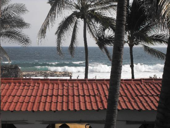 Pie de la Cuesta, Meksyk: Blick vom Balkon vor dem zimmer