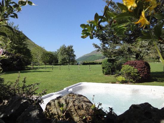 Dolffanog Fawr: View from the garden hot tub