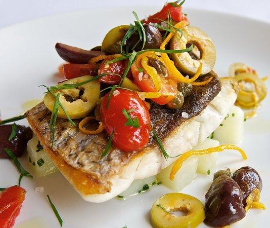 Olives Restaurant : Sea bass