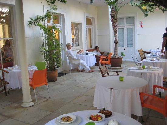 Frühstücksterrasse Fritz Hotel