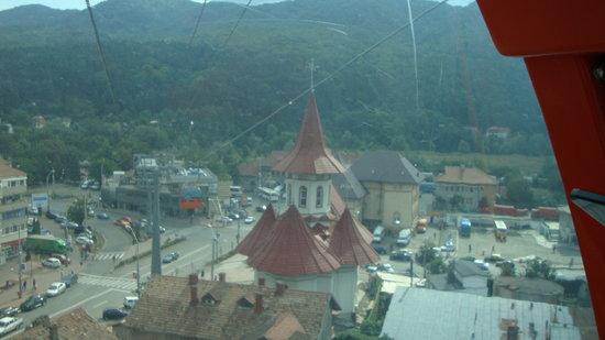 Piatra Neamt, โรมาเนีย: vue d en haut