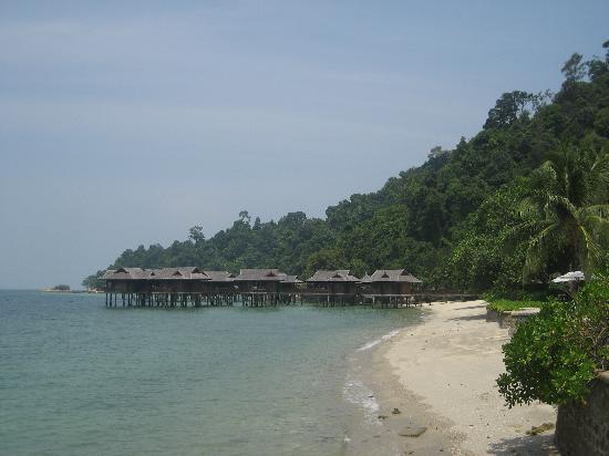 Pangkor Laut Resort: View of the Spa Villas