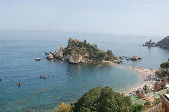 Panoramic Hotel: Blick vom Dachpool auf die Isola bella