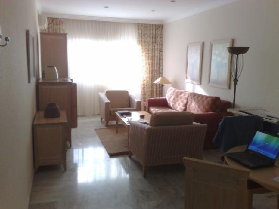 Royal Oasis Club at Pueblo Quinta: Main room with TV, DVD player, stereo etc.