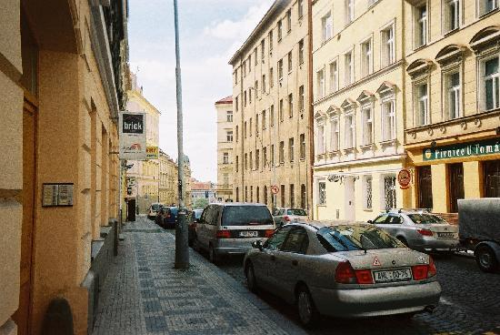 Prague City Sneho Street Hotel On The Right