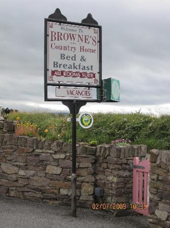 Brownes Bed & Breakfast Dingle: Brownes B&B