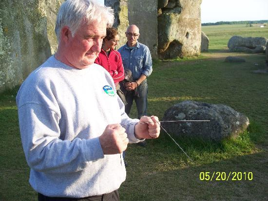 Salisbury, UK: Pat aligns the Energy of Stonehenge