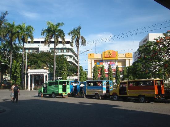 Zamboanga City Hall: jeepneys across the city hall