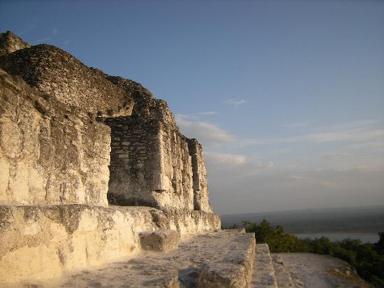 Peten, Guatemala: Top of temple 216!