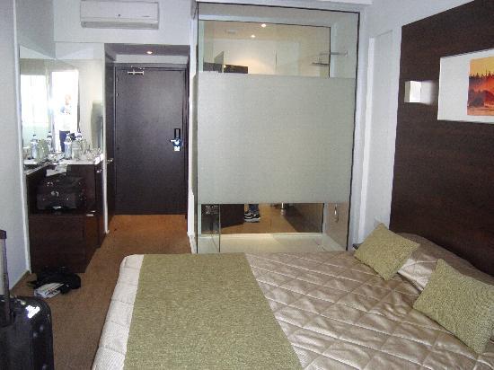 Amorgos Boutique Hotel: Dusche im Zimmer integriert:-)