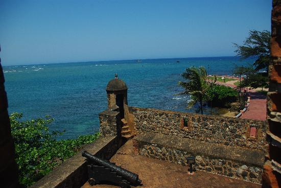 Puerto Plata, Den dominikanske republikk: Blick vom Dach des Festungspalas